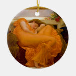 Flaming June by Sir Frederic Leighton Christmas Ornaments