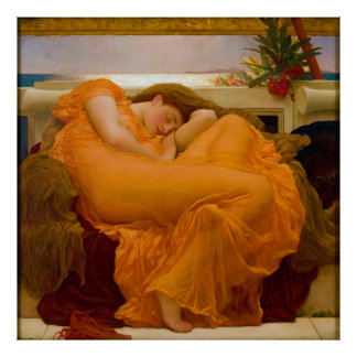 Flaming June by Sir Frederic Leighton Poster