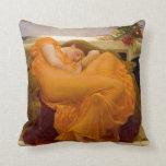 Flaming June by Sir Frederic Leighton Throw Pillow