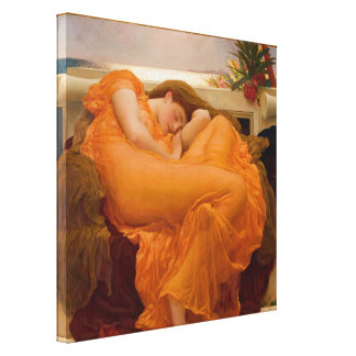 Flaming June - Frederic Lord Leighton Canvas Prints