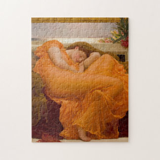 Flaming June - Frederic Lord Leighton Jigsaw Puzzle