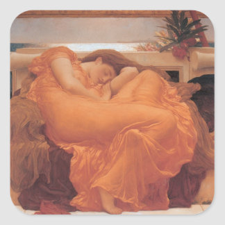 Flaming June Square Sticker