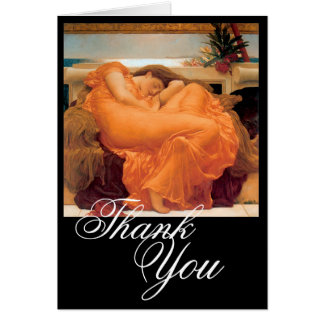 Flaming June - Thank You Card