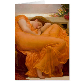 Flaming June Vintage Art Card Painting