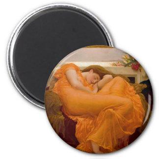 Flaming June Vintage Art Card Painting Magnet