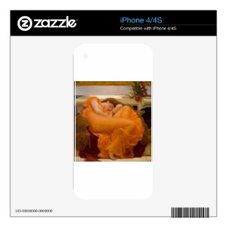 Flaming June Vintage Art Card Painting Skin For iPhone 4S