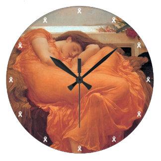 Flaming June  Wall Clock