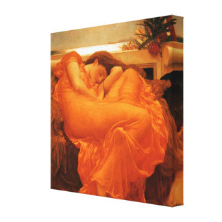 Flaming June Wrapped Canvas Print