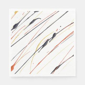 Flaming Leather Paint Splatter Paper Napkins