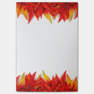 Flaming Leaves Post It Notes