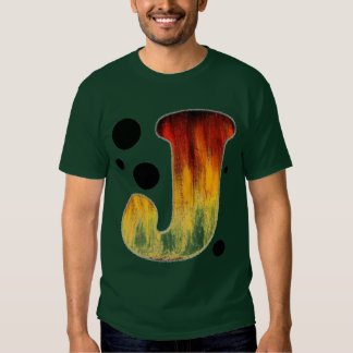 Flaming Letter J T-shirts