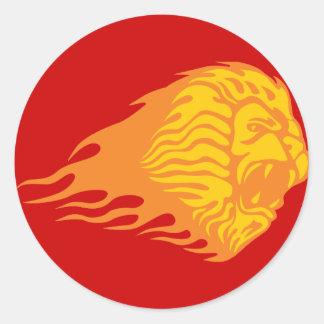 Flaming Lion #1 Classic Round Sticker