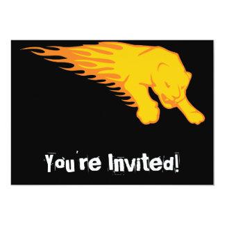 Flaming Lion #3 Card