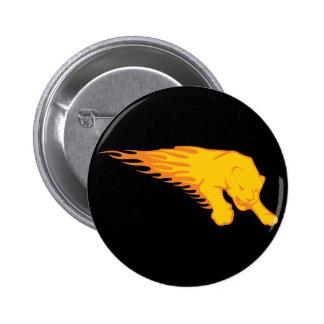 Flaming Lion #3 Pins