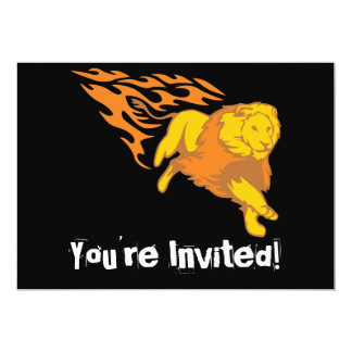 Flaming Lion #5 Card