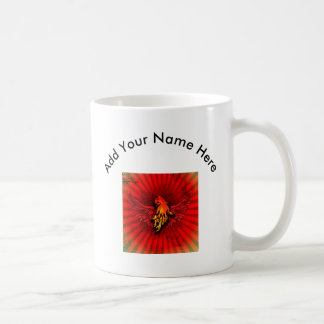 Flaming lion with wings classic white coffee mug