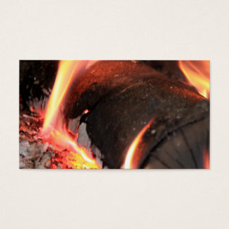 Flaming Log Business Card