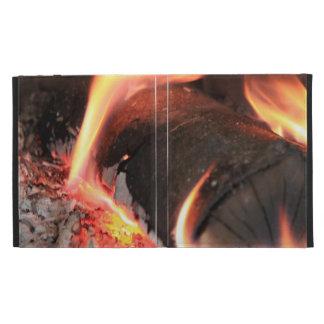 Flaming Log iPad Folio Cases