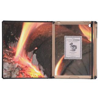 Flaming Log iPad Case
