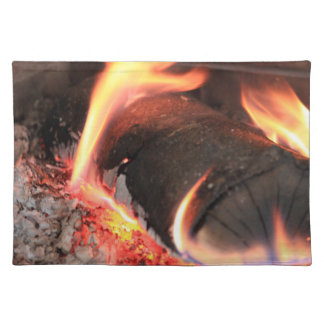 Flaming Log Cloth Placemat