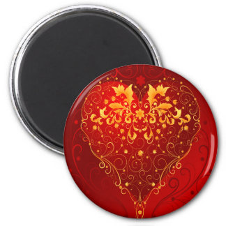 Flaming Love 2 Inch Round Magnet