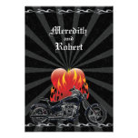 Flaming Love Biker Wedding Reply Invitations