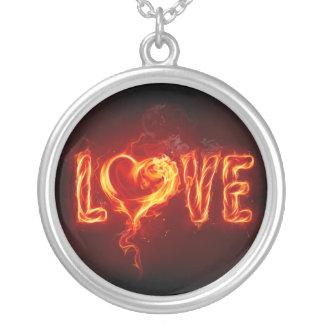 Flaming Love Pendant