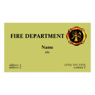 Flaming Maltese Cross Business Card 1