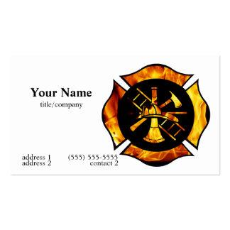 Flaming Maltese Cross Business Card 2