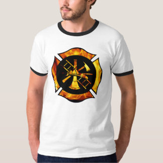 Flaming Maltese Cross T-Shirt
