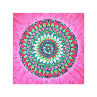 Flaming Mandala Canvas Print