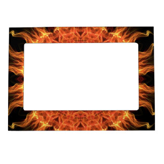 flaming mandala magnetic picture frame