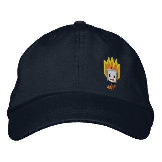 Flaming Mattson Marshmallow Hat: Left Front Style Embroidered Baseball Cap