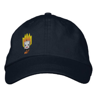 Flaming Mattson Marshmallow Hat: Right Front Style Embroidered Baseball Cap