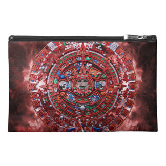 Flaming Mayan Calender Travel Accessories Bag
