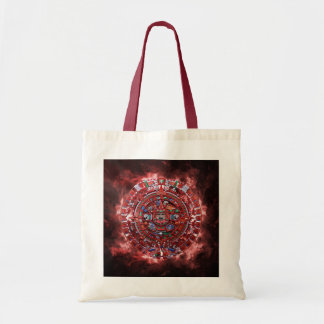 Flaming Mayan Calender Tote Bags