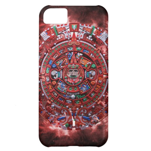 Flaming Mayan Calender iPhone 5C Cases