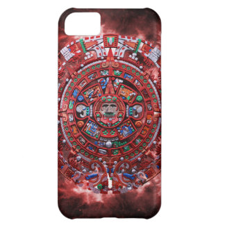 Flaming Mayan Calender Case For iPhone 5C