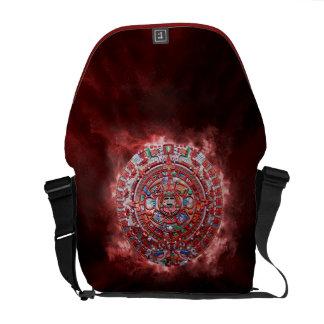 Flaming Mayan Calender Courier Bag