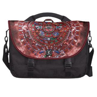 Flaming Mayan Calender Laptop Commuter Bag
