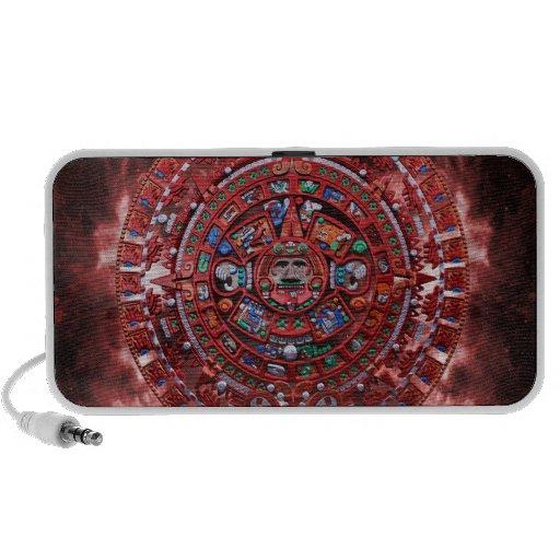 Flaming Mayan Calender Mp3 Speakers