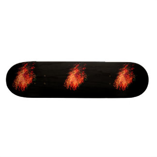 Flaming Meteor! Skateboard Deck