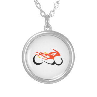 FLAMING MOTORCYCLE NECKLACES