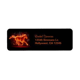 Flaming Mustang Custom Return Address Label