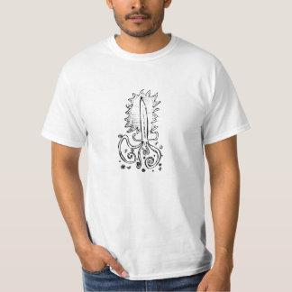 Flaming Octopus Sword T-Shirt