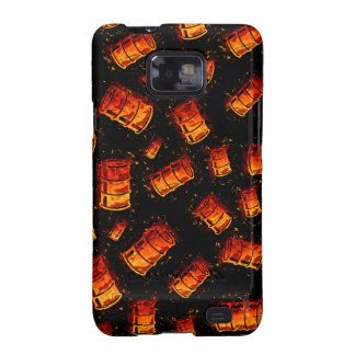 Flaming oil barrels galaxy SII cover
