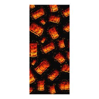 Flaming oil barrels rack cards