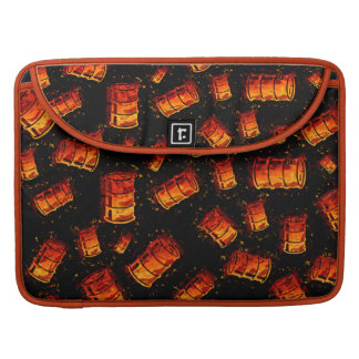 Flaming oil barrels sleeve for MacBook pro