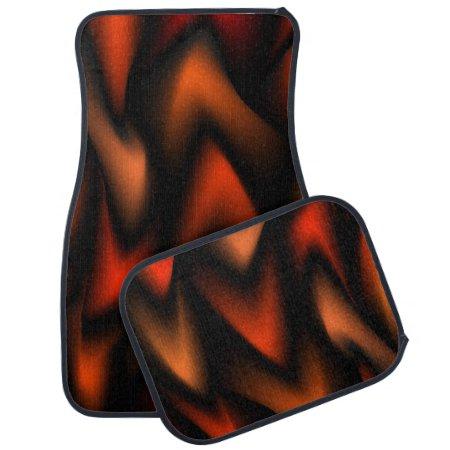 Flaming Orange Car Mats Floor Mat