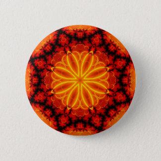 Flaming Orange Kaleidoscope Pinback Button